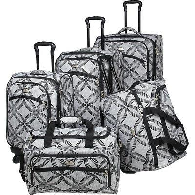 American 5-piece Black/Grey Luggage
