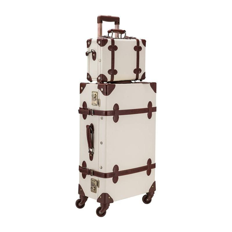 "Co-Z Premium Vintage Luggage Sets 24"" Trolley Suitcase And 1"