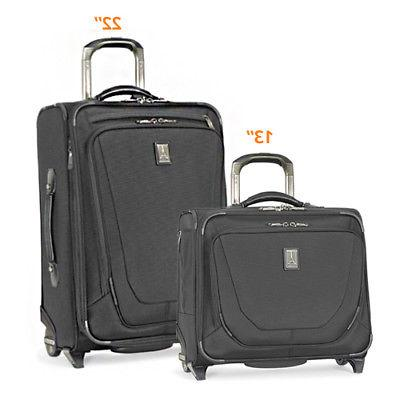 Crew11 22 Rollaboard/RollingTote -Black 2 Piece Luggage Set