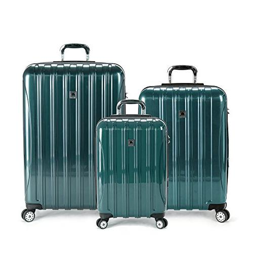 delsey luggage helium aero 3 piece spinner