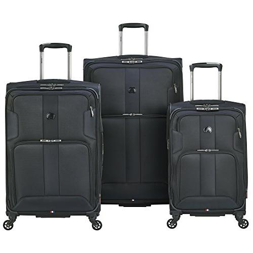 delsey luggage sky max 3 piece spinner