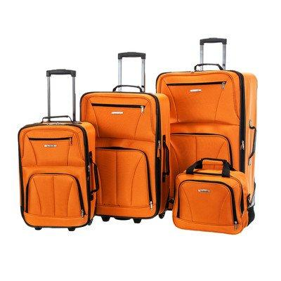 Rockland Deluxe 4-Piece Luggage Set
