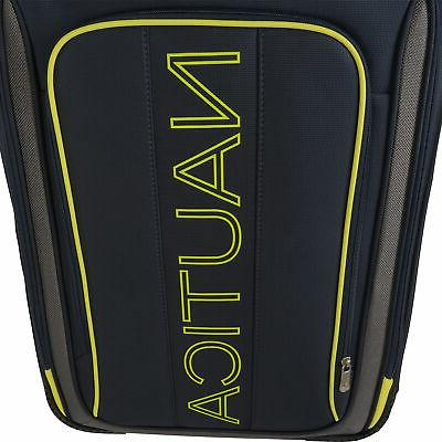 Nautica Dispatch Navy Yellow Expandable Spinner Luggage Set