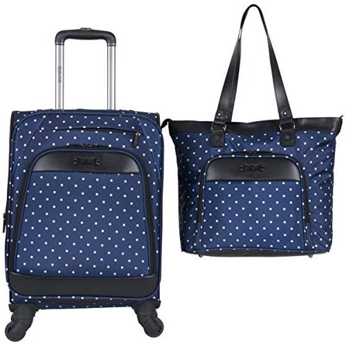 dot matrix 600d polyester 2 piece luggage