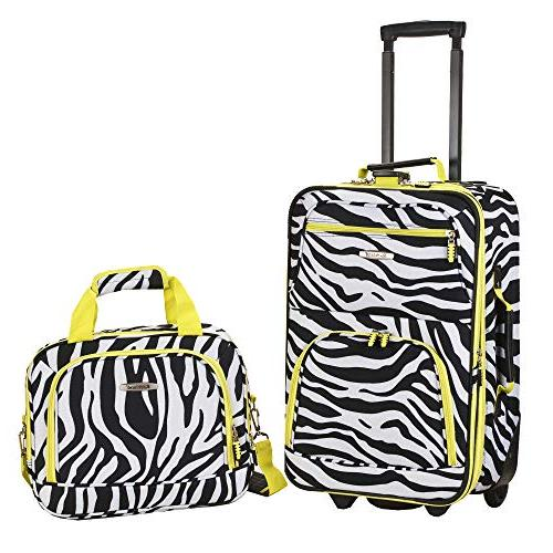 expandable lime zebra lightweight carry