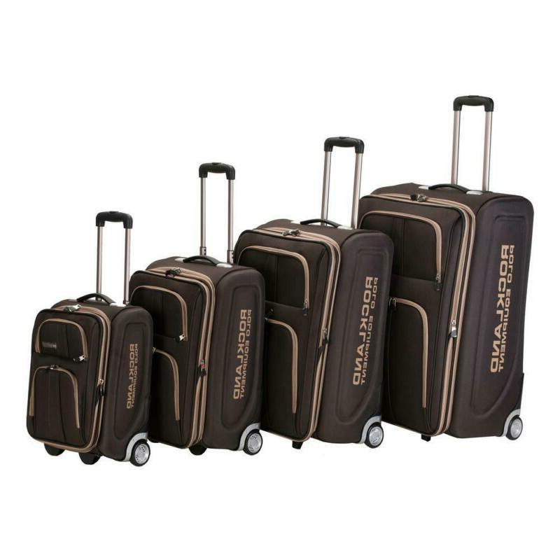 Rockland Expandable Luggage Varsity Polo Equipment 4-Piece S