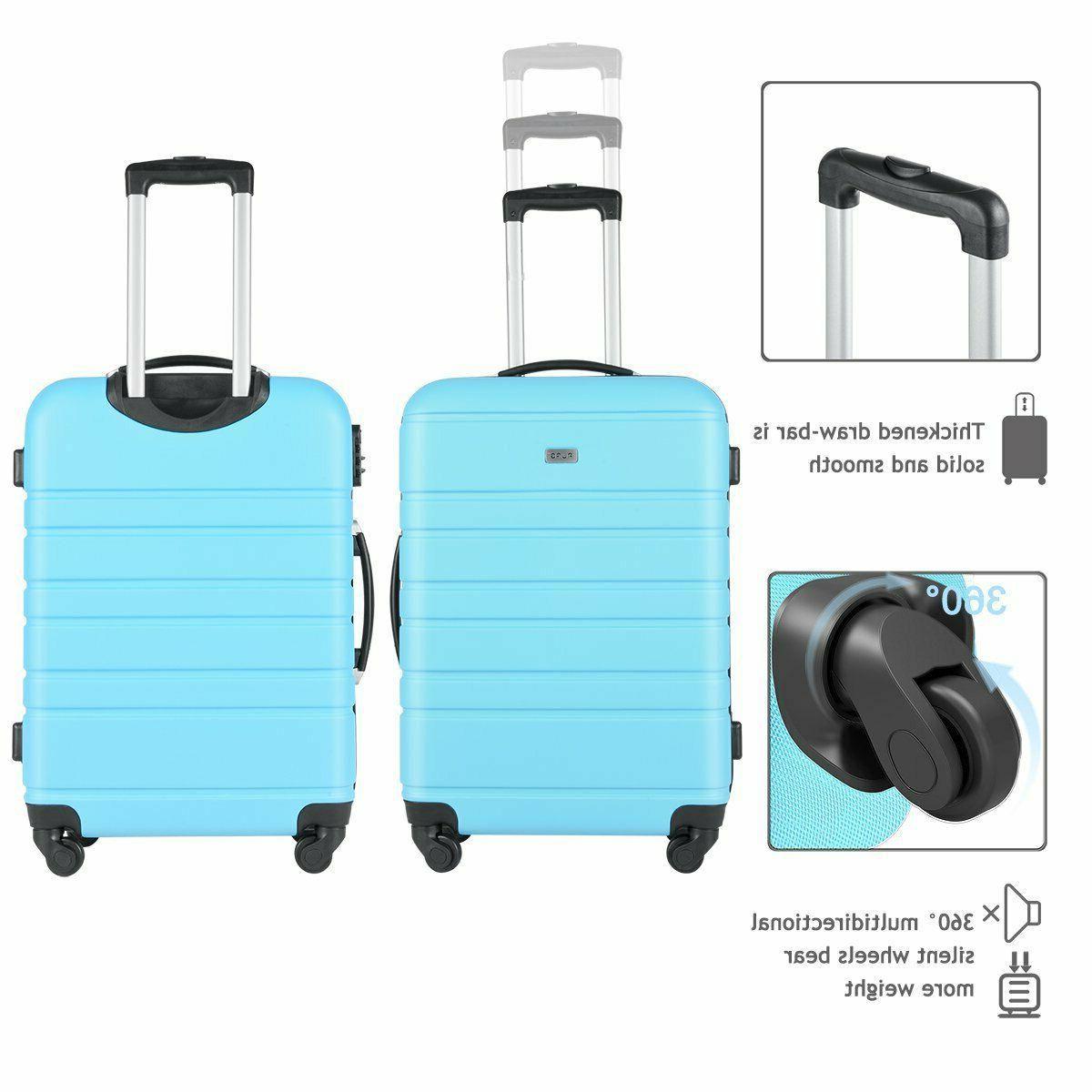 Travel Rolling Luggage Spinner Blue