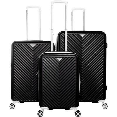 explorer 3 piece hardside spinner luggage set