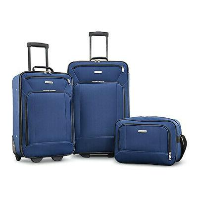 American Tourister Fieldbrook XLT 3 Piece Set - Navy -