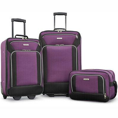 American Tourister Fieldbrook XLT 3 Piece Set - Purple -