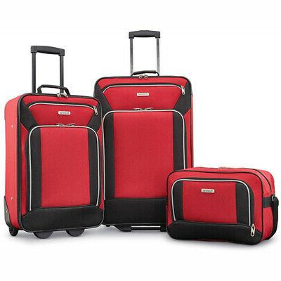 American Tourister Fieldbrook XLT 3 Piece Set - Red -