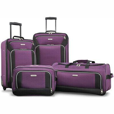American Tourister Fieldbrook 4 Piece - Purple -