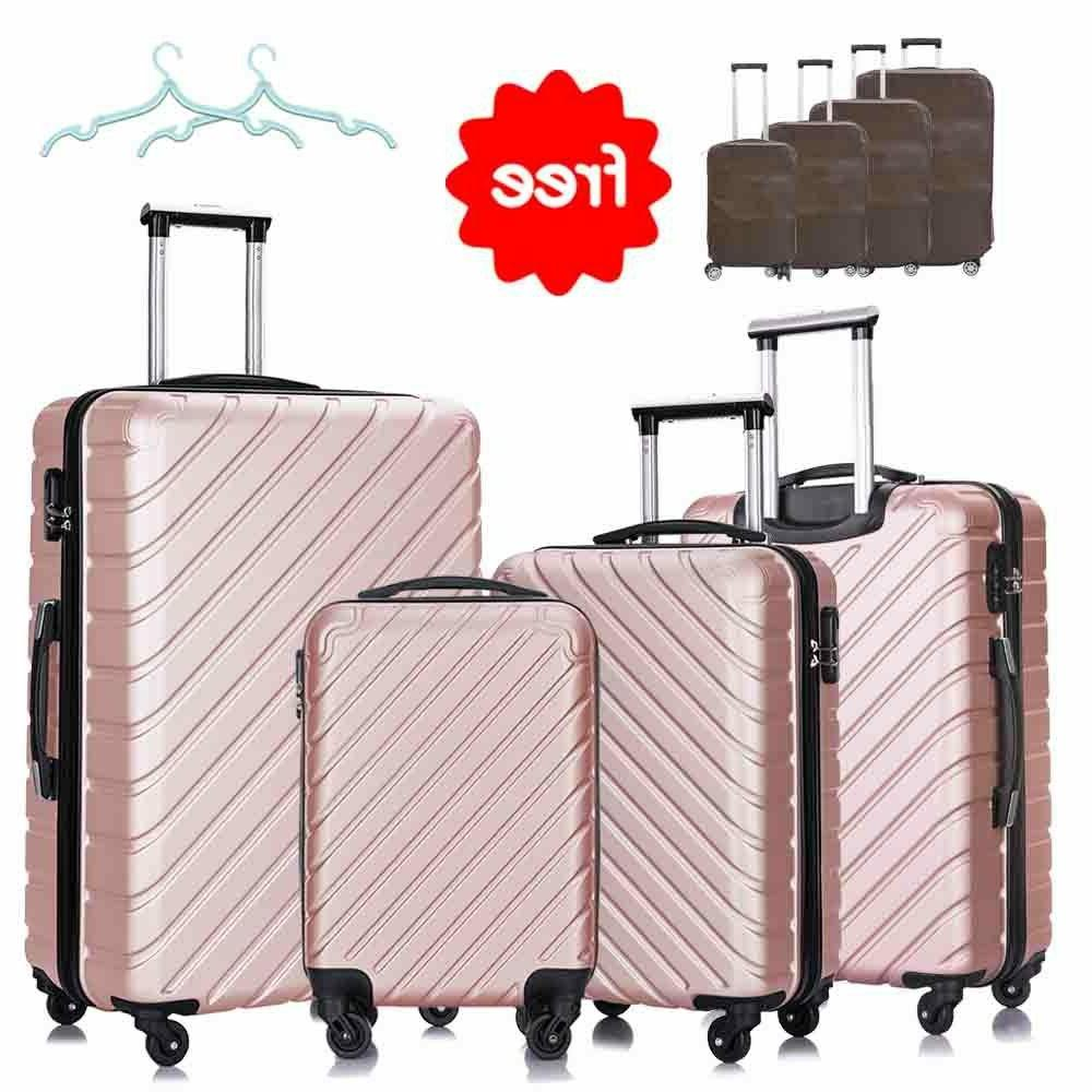 3 & Piece Hardcase Luggage Bag ABS Trolley Spinner Suitcase w/Lock