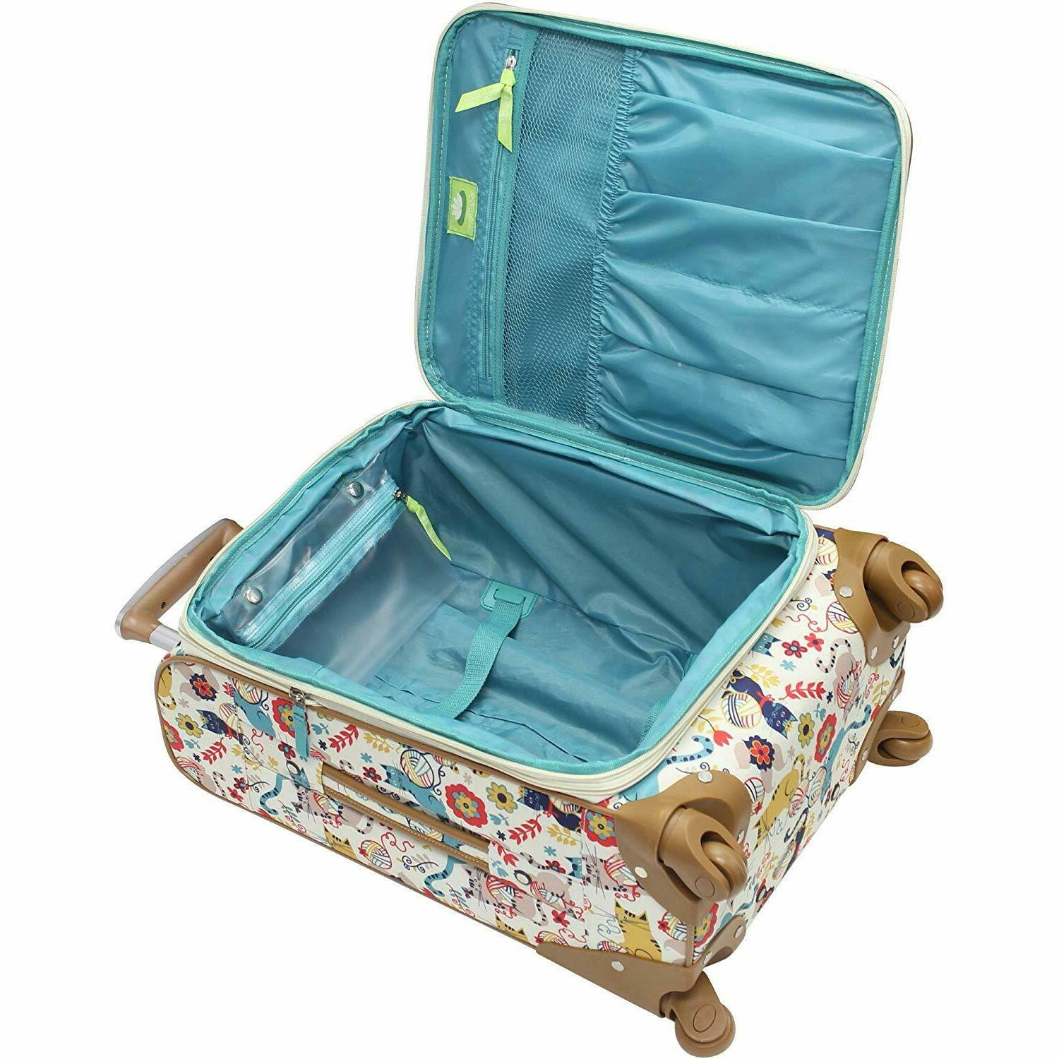 LILY BLOOM FURRY LUGGAGE SUITCASE PIECE COLLECTION