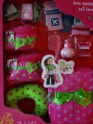 New GENERATION-BATTAT 18 Inch DOLL LUGGAGE and TRAVEL CAMERA-PASSPORT