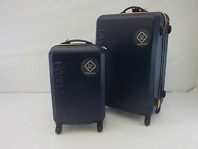 hardside expandable spinner luggage two piece set