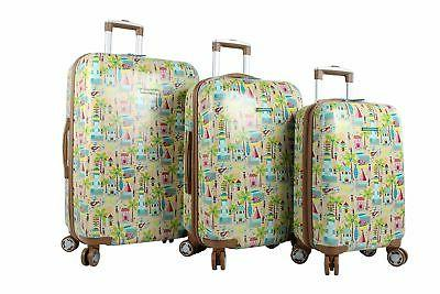 Lily Bloom Sets 3 Pattern Spinner Suitcase