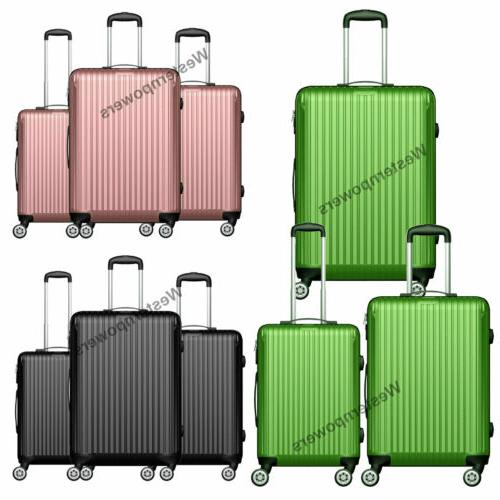 hardside spinner luggage set 3 piece lightweight