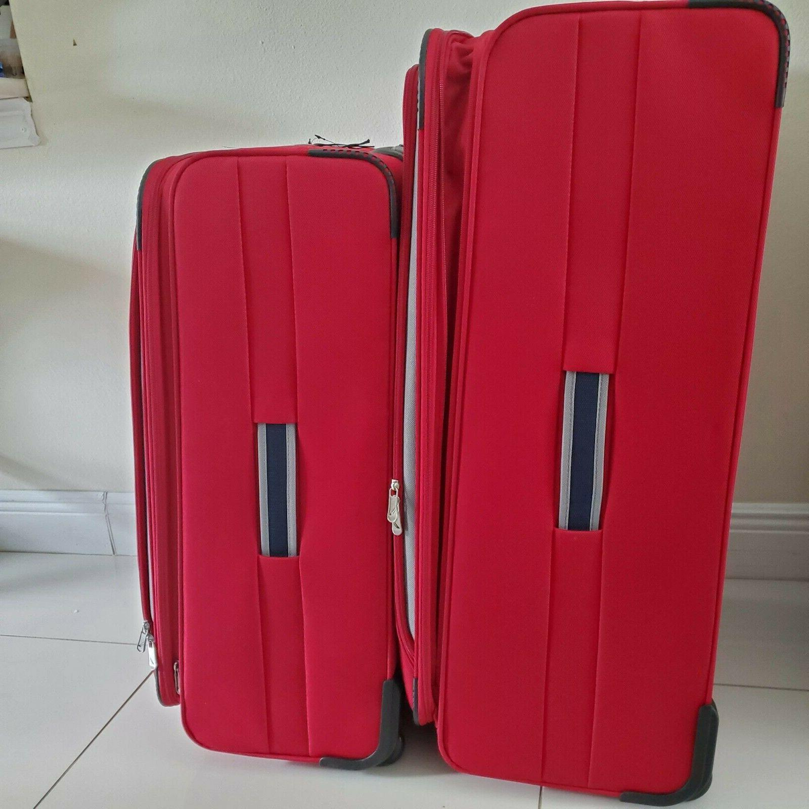 """Red 32""""/28"""" Luggage Set"""