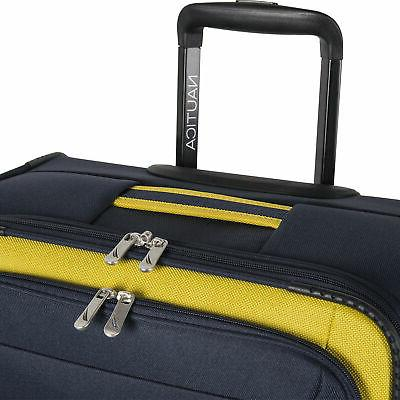 Nautica Navy Gold 3 Luggage Set