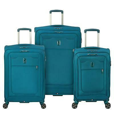 Delsey Hyperglide 3 Piece Spinner Luggage Set - Teal