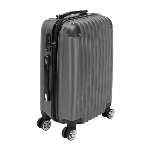 Swiss Case 4 Wheel Spinner ABS 2 PC Luggage Set BLACK Hardsi