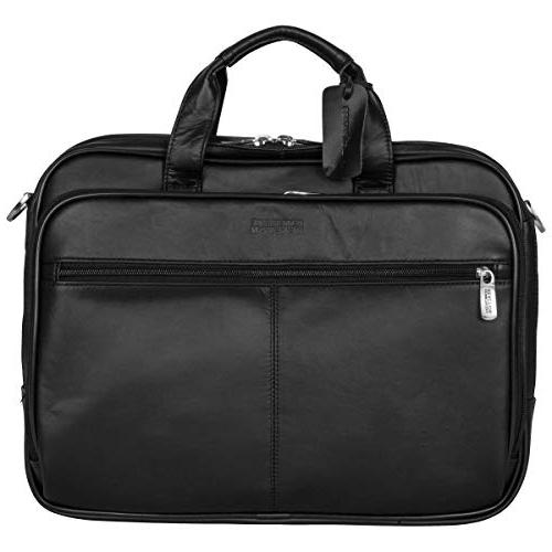 """Kenneth Cole Reaction Genuine Leather Dual 15.4"""" Laptop Black"""