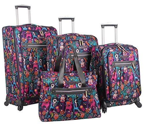 lily bloom luggage suitcase collection