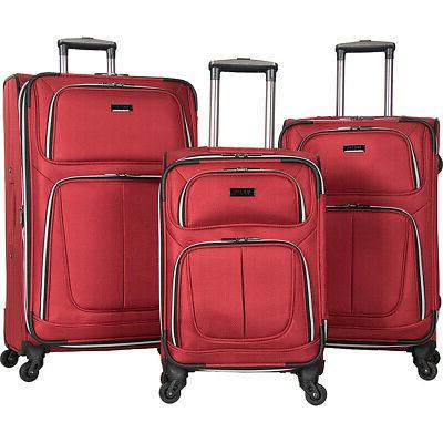 lincoln square 3 piece expandable luggage set