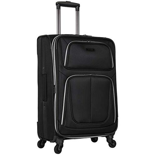 "Kenneth Reaction 'Lincoln Square' Spinner Luggage Set: Carry-on, 28"", Black"