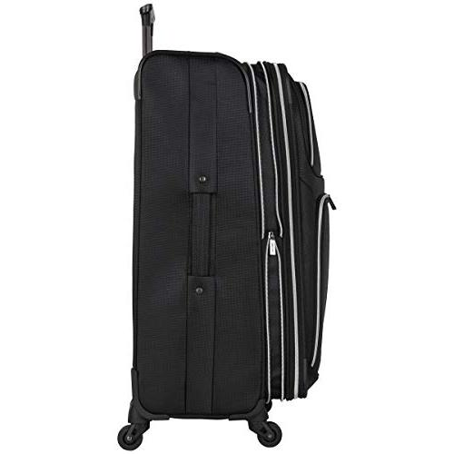 "Kenneth Square' 4-Wheel Spinner Set: 20"" Carry-on, 28"", Black"