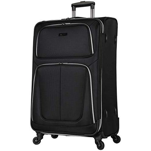"Square' Spinner Luggage Carry-on, 28"", Black"