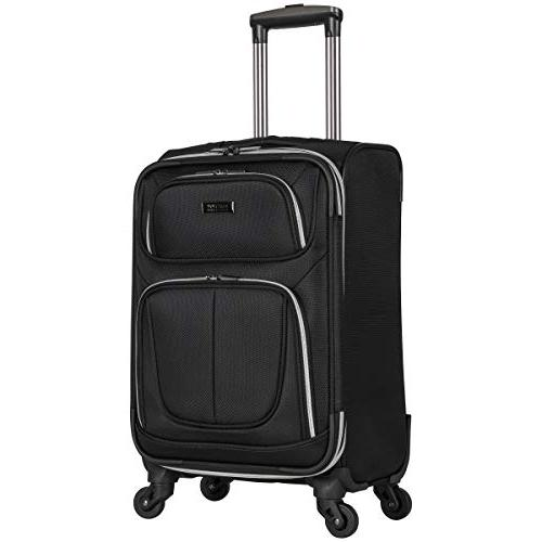 "Kenneth Square' 4-Wheel Spinner Luggage Set: Carry-on, 24"","