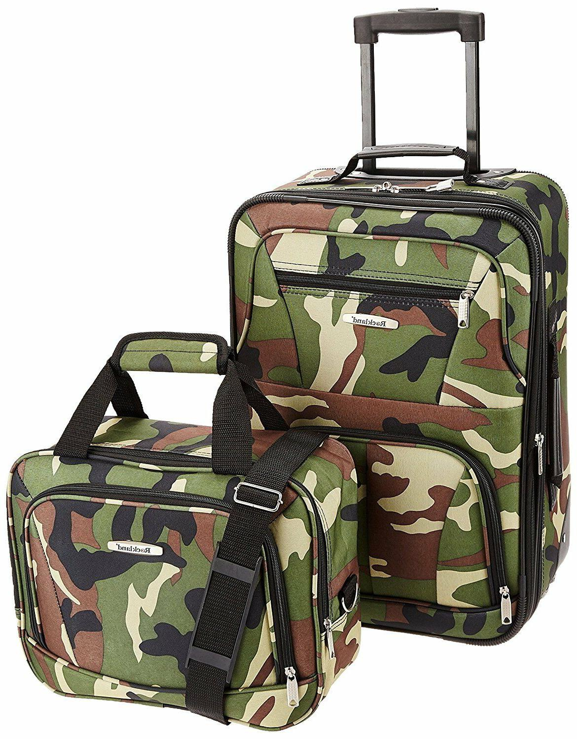 Rockland Luggage Set, Size,Zipper,Travel,Clothes,Security,Shoes,Bags