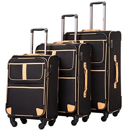 luggage 3 piece set suitcase with tsa