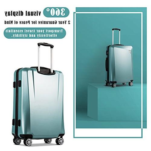 Coolife Luggage 3 Sets 20 inch 24 28 inch