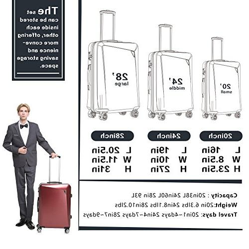Sets PC+ABS Spinner Suitcase 20 28 inch