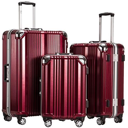 luggage aluminium frame suitcase 3 piece set