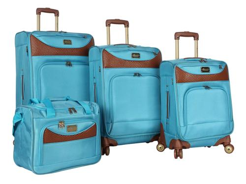luggage castaway 4 piece spinner suitcase set