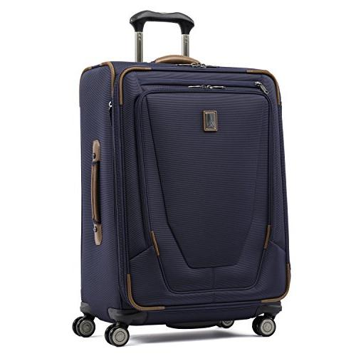 luggage crew 11 25 expandable spinner suitcase