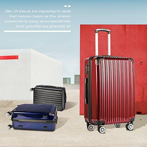 Coolife Piece Suitcase 20 inch