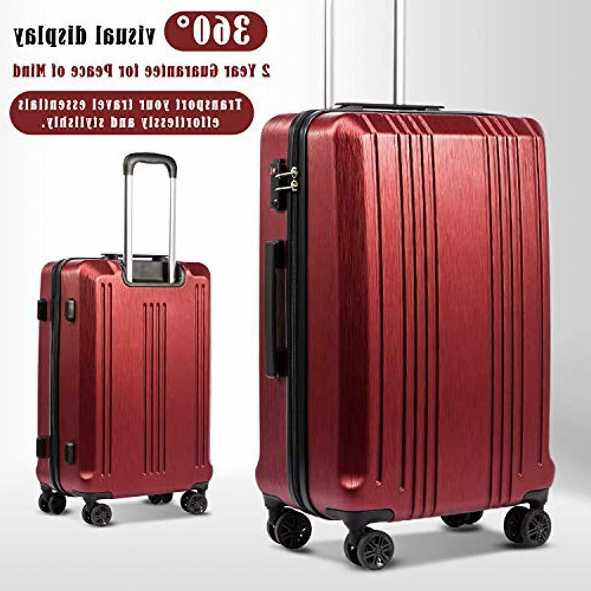 Coolife Suitcase PC+ABS 3 with Lock