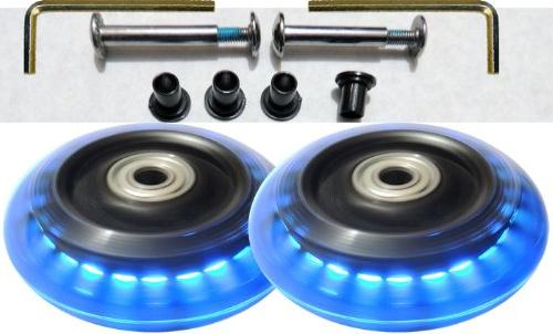 luggage lighted wheel set lights