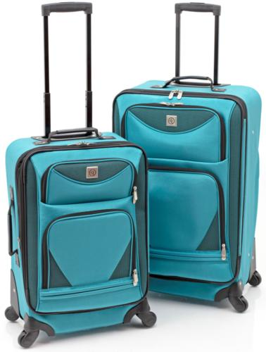 luggage set 2piece expandable spinner top quality