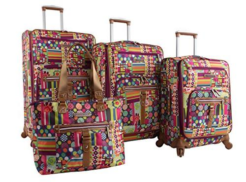 luggage set 4 piece suitcase collection