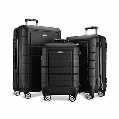 Luggage Sets Expandable PC+ABS Durable Suitcase Double Wheel
