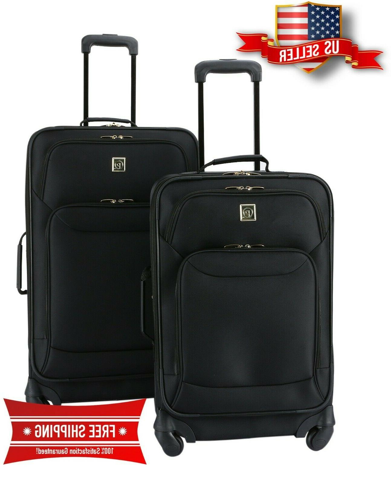 luggage set protege 2 piece expandable spinner
