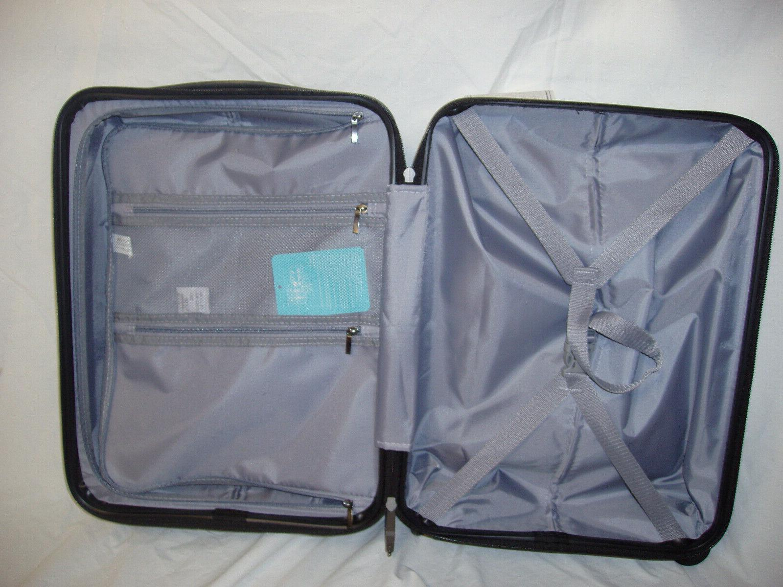 "COOLIFE Suitcase Carry On ABS+PC 2-piece Slate 20"" & 28"""
