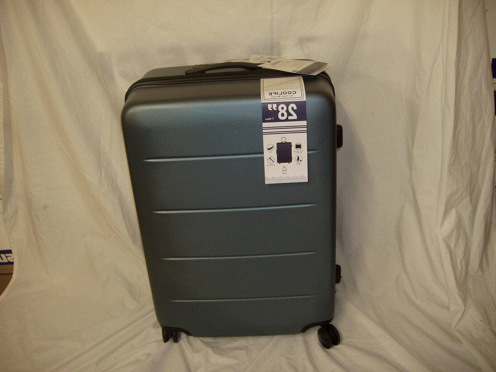 COOLIFE Luggage Suitcase Carry On ABS+PC 2-piece Slate 28""
