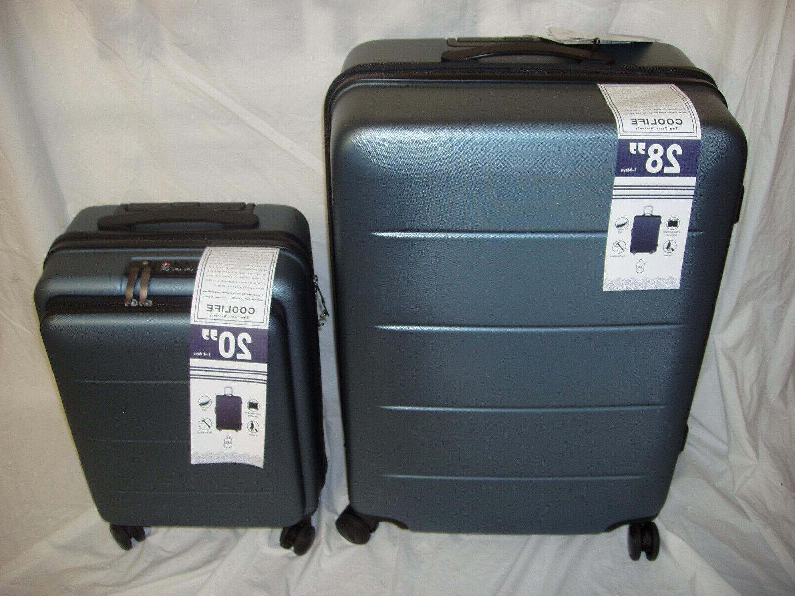 luggage suitcase carry on abs pc 2